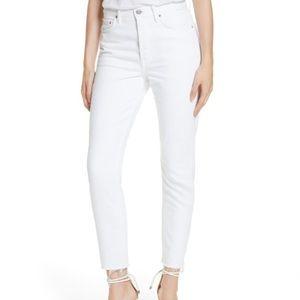 GRLFRND Karolina High Waist Skinny Jeans in White